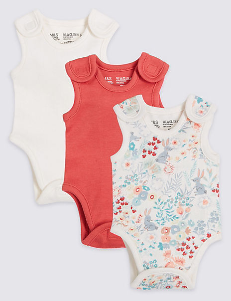 Adaptive 3 Pack Premature Pure Cotton Bodysuits