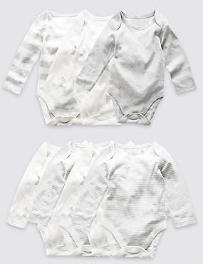 7 Pack Unisex Elephant Skin Kind™ Long Sleeve Bodysuits