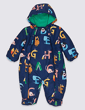 Letter Print Snowsuit with Stormwear™