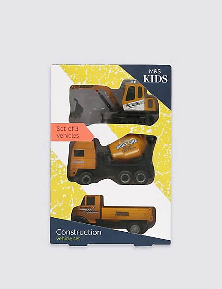 3 Pack Construction Vehicles