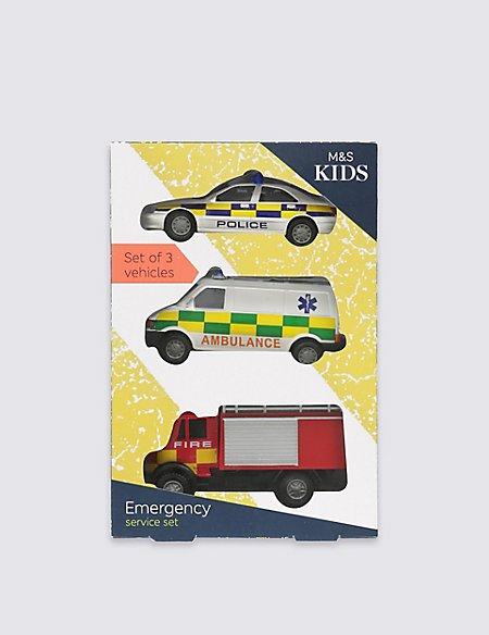 3 Pack Emergency Vehicles