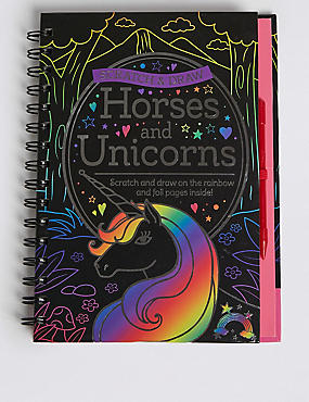 Scratch & Draw Horses & Unicorns