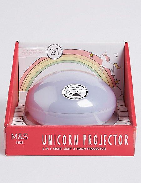 2 in 1 Unicorn Night Light & Room Projector