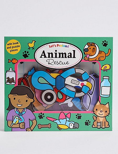 Let's Pretend Animal Rescue Book