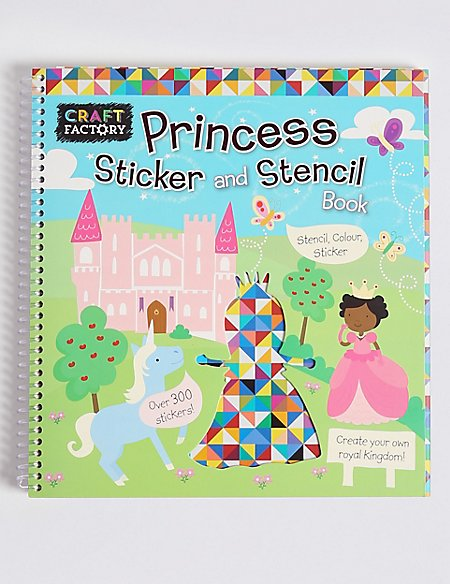 Craft Factory Princess Stencil Book