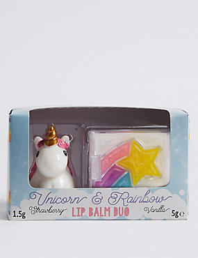 Unicorn & Star Rainbow Lip Balm Duo