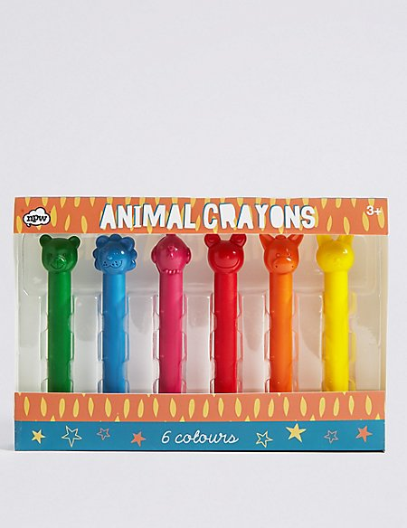 Animal Crayons - 6 colours
