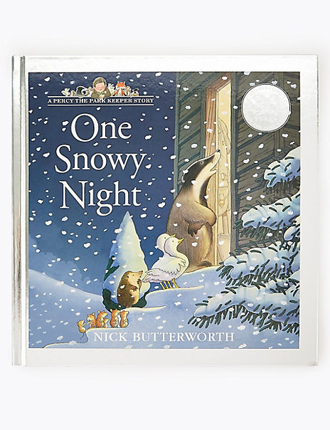 One Snowy Night Story Book