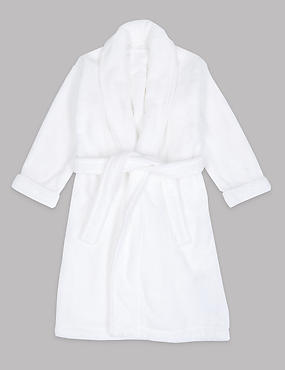 Pure Cotton Dressing Gown with Belt (1-16 Years)