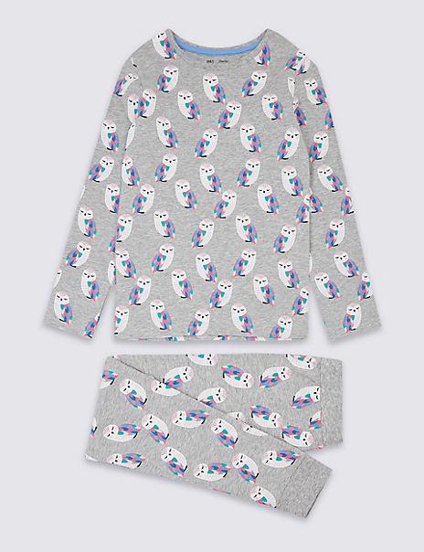 Dreamskin® Cotton with Stretch Owl Pyjamas (3-16 Years)