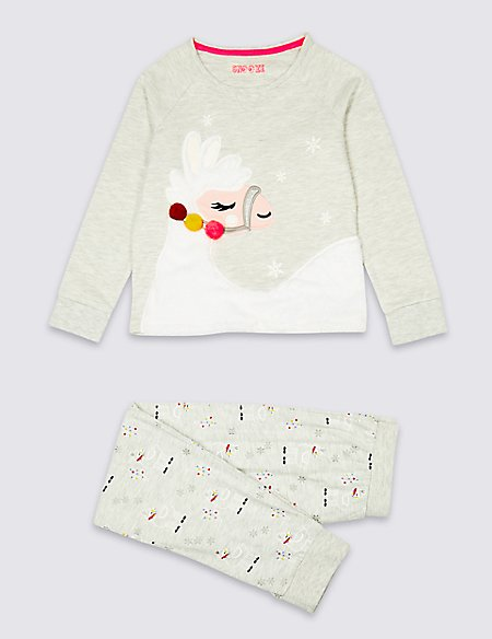 Cotton Rich Llama Pyjamas (3-16 Years)