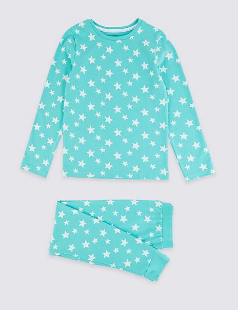 Dreamskin® Cotton with Stretch Star Pyjamas (1-16 Years)