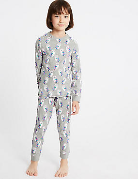 Cotton Rich Printed Pyjamas (3-16 Years)