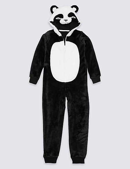 Hooded Panda Onesie (1-16 Years)