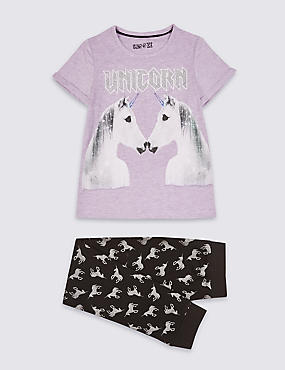 Glitter Unicorn Pyjamas (3-16 Years)