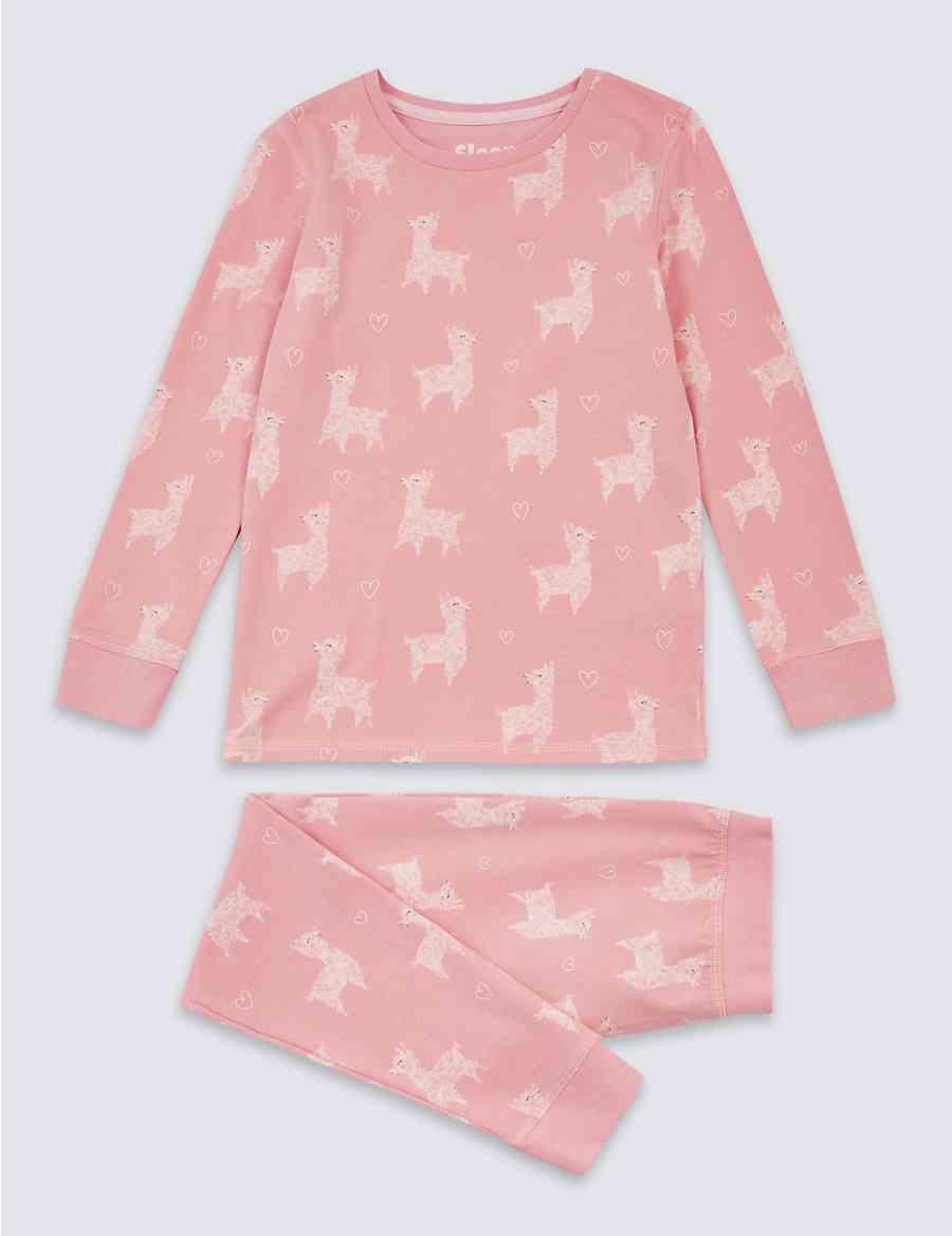 Cotton Llama Pyjamas with Stretch (3-16 Years)  138e57585