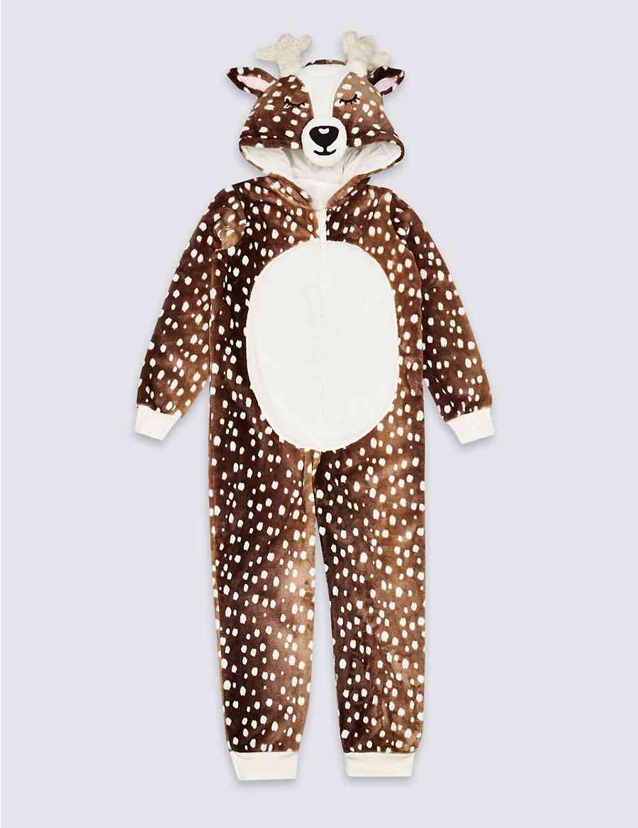 e351503fa197 Deer Hooded Onesie (1-16 Years)