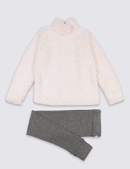 Lounge Fleece Pyjamas (3-16 Years)