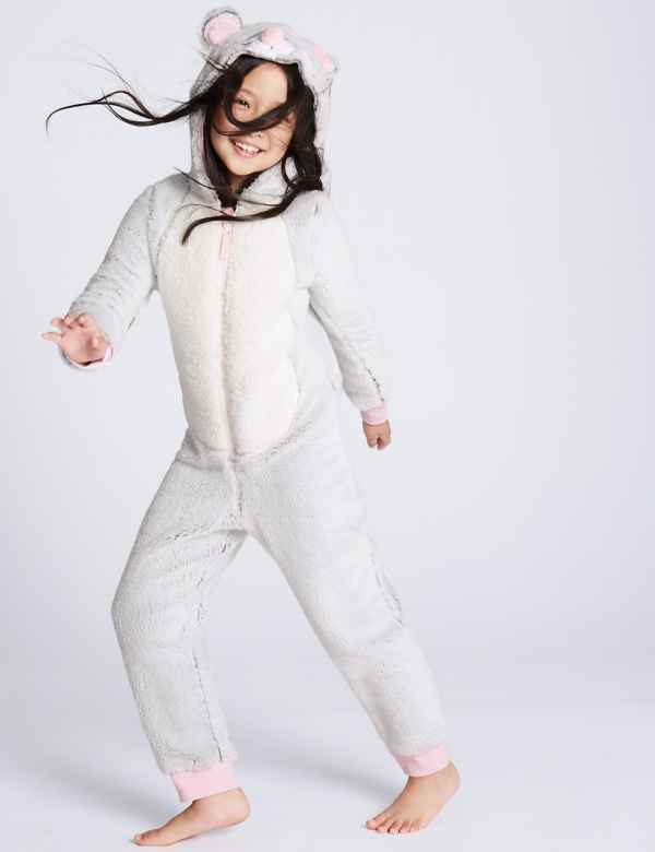 Mouse Hooded Onesie (1-16 Years) bf3533175