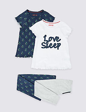 2 Pack Love Sleep Pyjamas (3-16 Years)