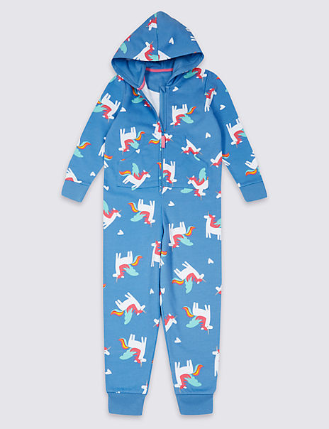 Pure Cotton Unicorn Print Onesie (1-16 Years)