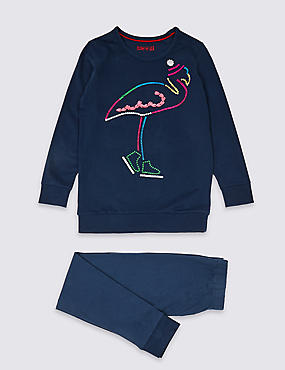 Pure Cotton Flamingo Pyjamas (3-16 Years)