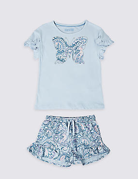Butterfly Embroidered Pyjamas (3-16 Years)