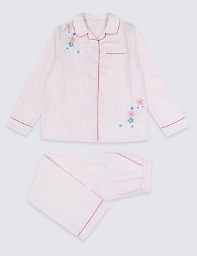 Pure Cotton Striped Pyjamas (3-16 Years)