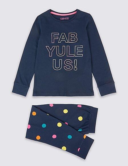 Pure Cotton Pyjamas (3-16 Years)