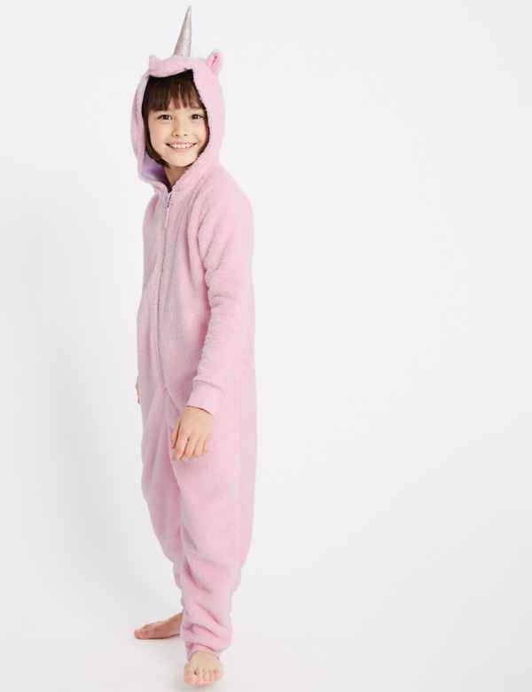 2d3368fd1107 Unicorn Hooded Onesie (1-16 Years)