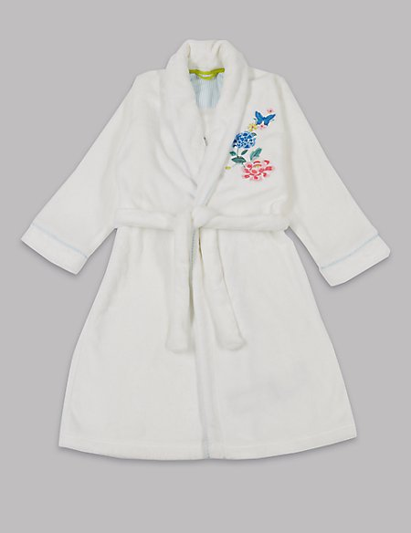 Embroidered Floral Dressing Gown with Belt (1-16 Years) | Autograph ...