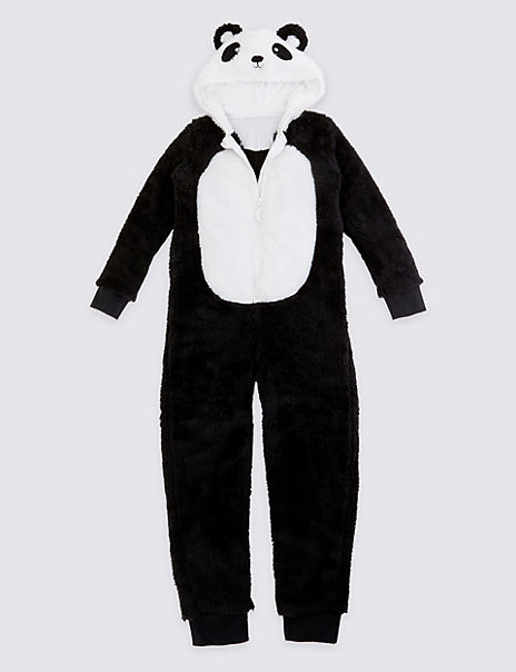 Panda Fleece Onesie (1-16 Years)
