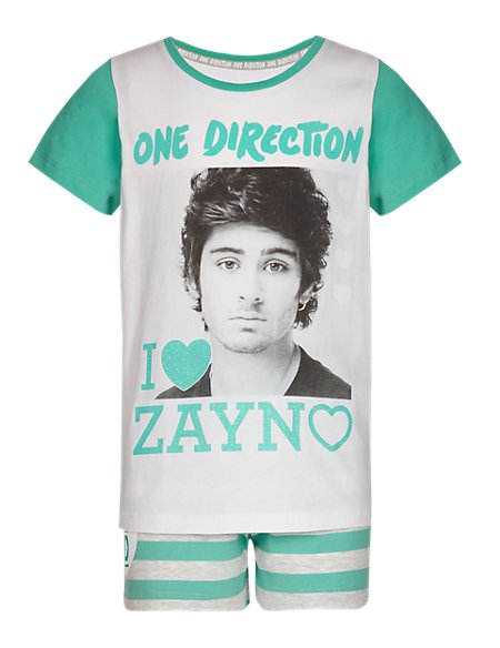 Cotton Rich One Direction Short Pyjamas - Zayn (5-14 Years)
