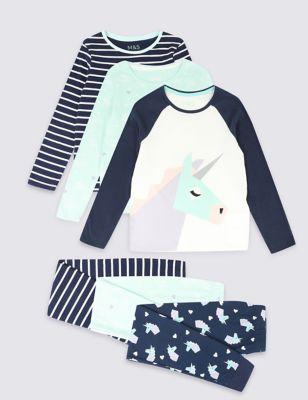 4825eb9f4c5a5 3 Pack Pure Cotton Pyjamas (3-16 Years) £23.00 - £29.00