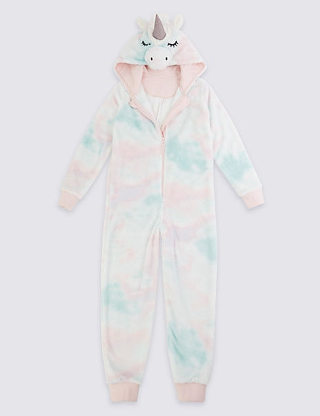Fleece Rainbow Unicorn Onesie (1-16 Years)