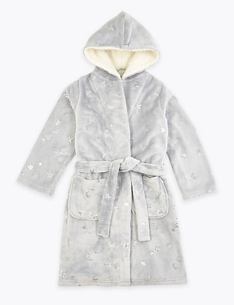 Fleece Star Dressing Gown (1-16 Years)