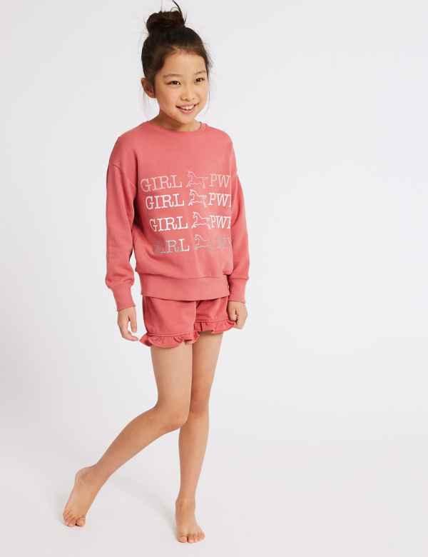 4251bf457d3 Pure Cotton Short Pyjamas (3-16 Years)