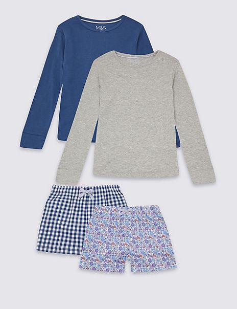 2 Pack Short Pyjamas (3-16 Years)
