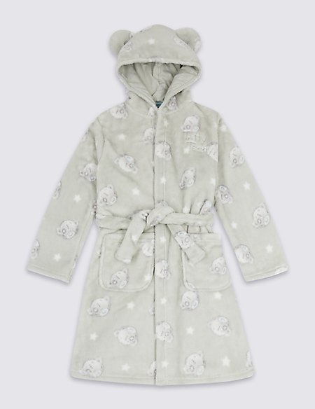 Hooded Dressing Gown with Belt (2-16 Years)
