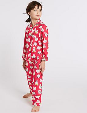 Polar Bear Pyjamas (1-16 Years), RED, catlanding