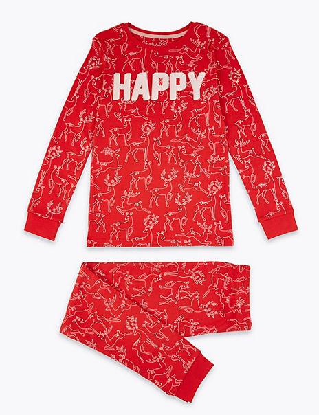 Deer Print Pyjama Set (1-16 Years)