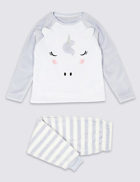 Unicorn Fleece Pyjamas (1-16 Years)