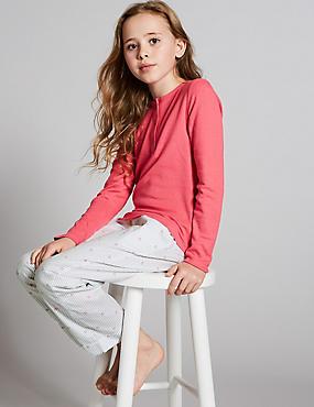 Ribbed Pyjamas (1-16 Years), PINK MIX, catlanding