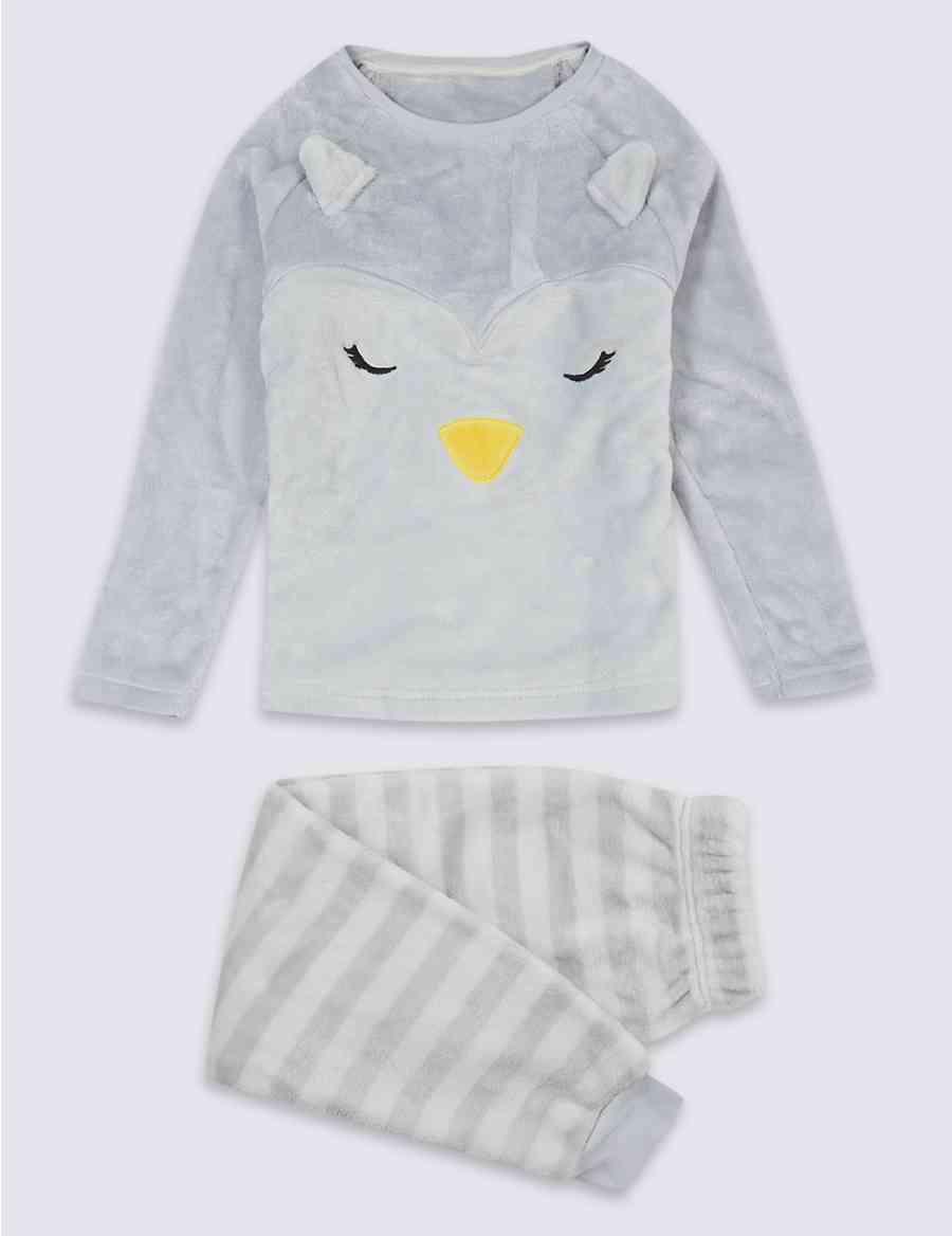 58523841f Penguin Fleece Pyjamas (1-16 Years)