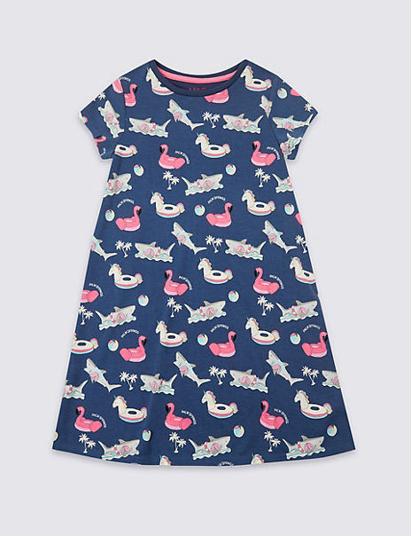 All Over Unicorn Print Nightdress (3-16 Years)