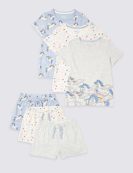 3 Pack Short Pyjamas (3-16 Years)