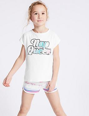 Pure Cotton Printed Pyjamas (3-16 Years)