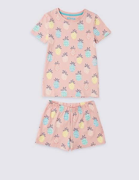 Cotton Short Pyjamas with Stretch (3-16 Years)