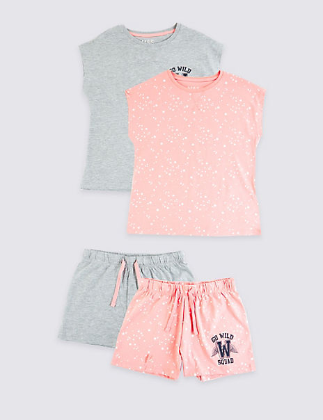2 Pack Go Wild Squad Short Pyjamas (3-16 Years)