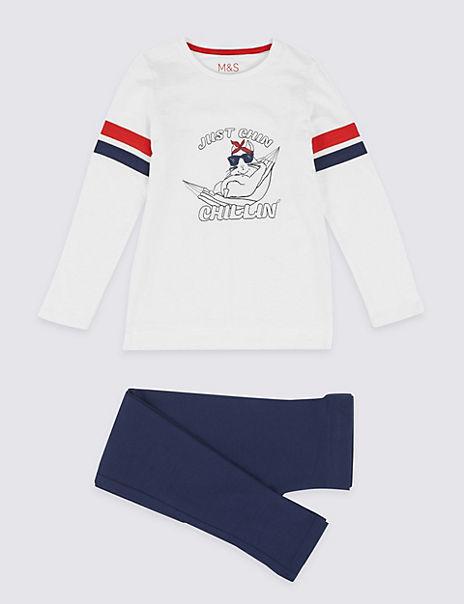 Chinchilla Print Pyjama Set (3-16 Years)